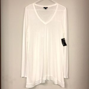 a.n.a LS Tunic - Cream - Size Large - NWT!
